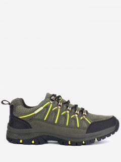 Casual Breathable Athletic Outdoor Hiking Shoes - Army Green 44