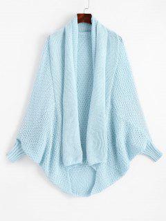 Shawl Collar Dolman Sleeve Cardigan - Light Blue