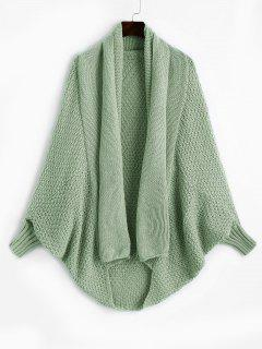 Shawl Collar Dolman Sleeve Cardigan - Light Green