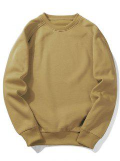 Fleece Crew Neck Sweatshirt - Khaki Xl