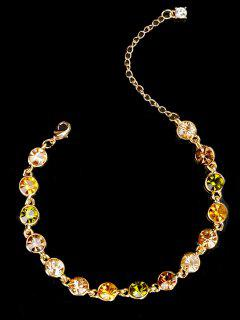 Rhinestone Chain Bracelet - Golden