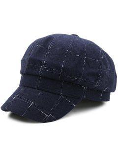 Sombrero De Vendedor De Periódicos Al Aire Libre Del Patrón - Azul Marino