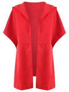Manteau à Capuche Grande Taille - Rouge Xl