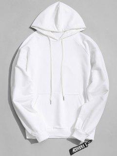 Side Zipper Hoodie - White 2xl