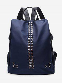 Criss Cross Metal Backpack - Blue