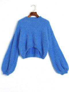 High Low Mohair Sweater - Blue