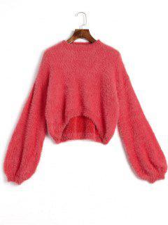 Suéter De Mohair Alto Bajo - Rojo
