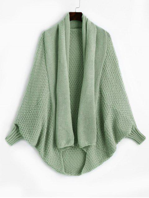 online Shawl Collar Dolman Sleeve Cardigan - LIGHT GREEN ONE SIZE Mobile