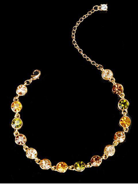 Pulsera de cadena de diamantes de imitación - Dorado  Mobile