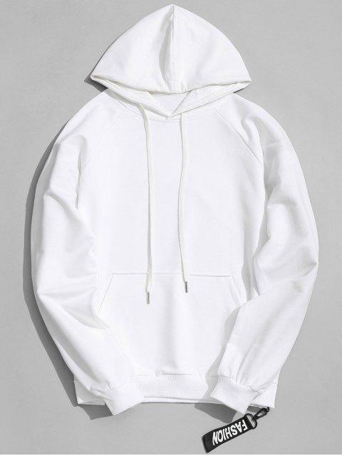 shop Side Zipper Hoodie - WHITE L Mobile