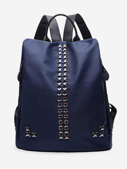 chic Criss Cross Metal Backpack -   Mobile