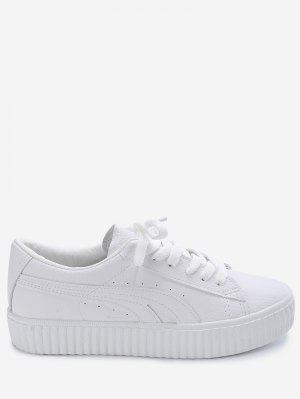 Tie Up Faux Suede Platform Sneakers
