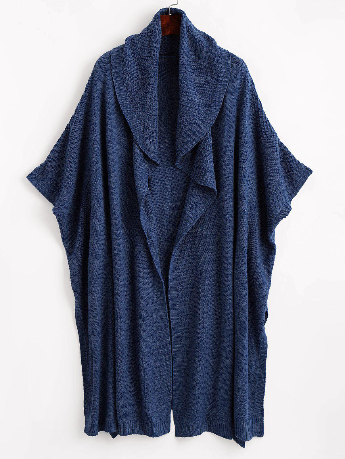 Side Slit Cape Cardigan