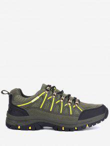 حذاء رياضي كاجوال قابل للتهوية للمشي لمسافات طويلة - الجيش الأخضر 44