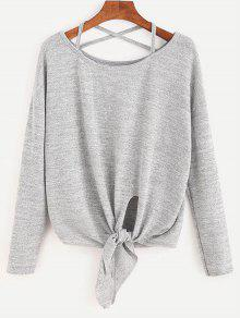 Criss Cross Self Tie Hem Knitwear