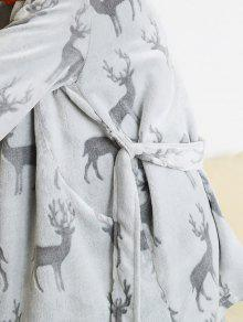 36% OFF  2019 Fuzzy Reindeer Christmas Night-robe In GRAY L  535137202