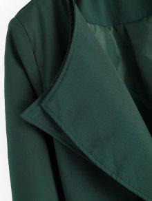 Verde Cubierto Con Cintur 243;n Negruzco Hendidura Traje Con Trasera S Z0wCqtUAI
