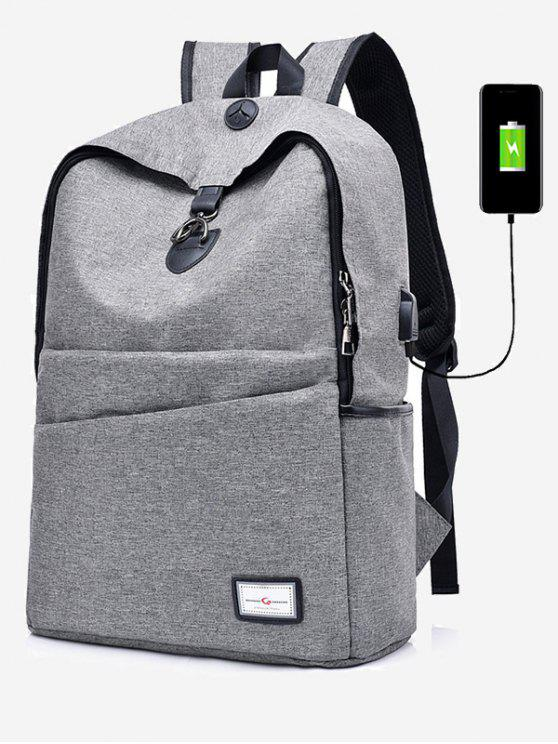 online Multi Function USB Charging Port Backpack - GRAY