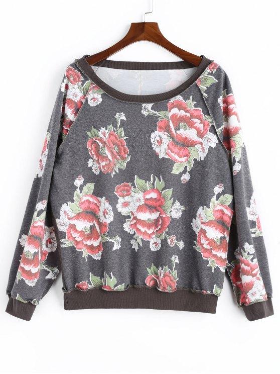 53004db325 Floral Sweatshirt GRAY
