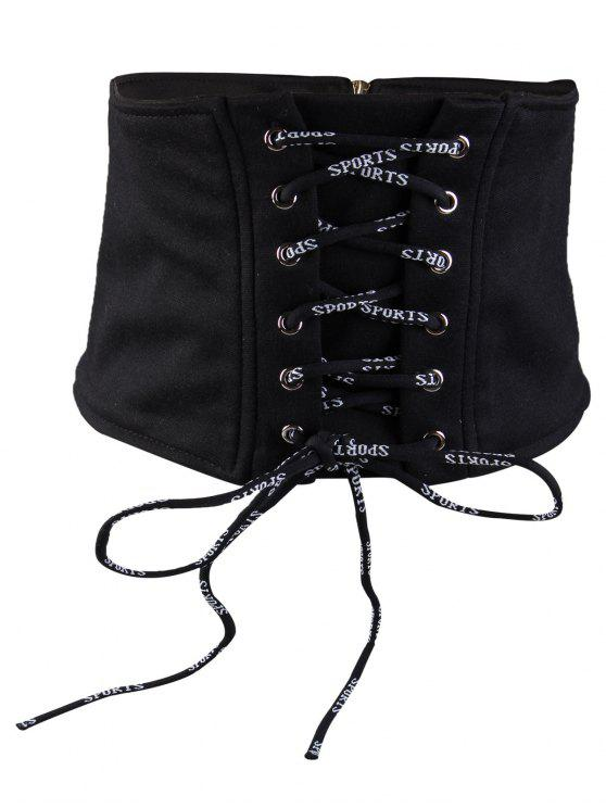 buy Vintage Fringed Embellished High Waist Belt - BLACK