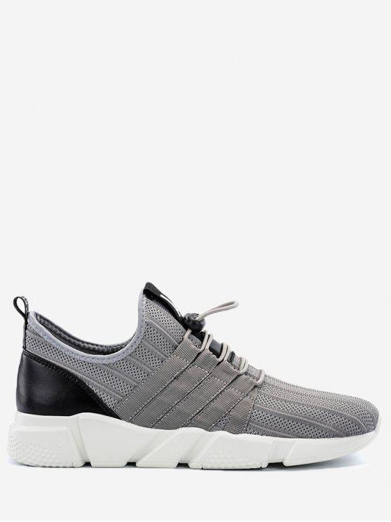 Sneakers in mesh leggero con chiusura a cordino - Grigio 43