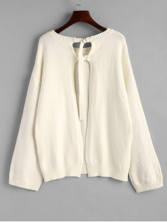 Oversized Pullover Open Back Sweater OFF-WHITE: Sweaters ONE SIZE ...