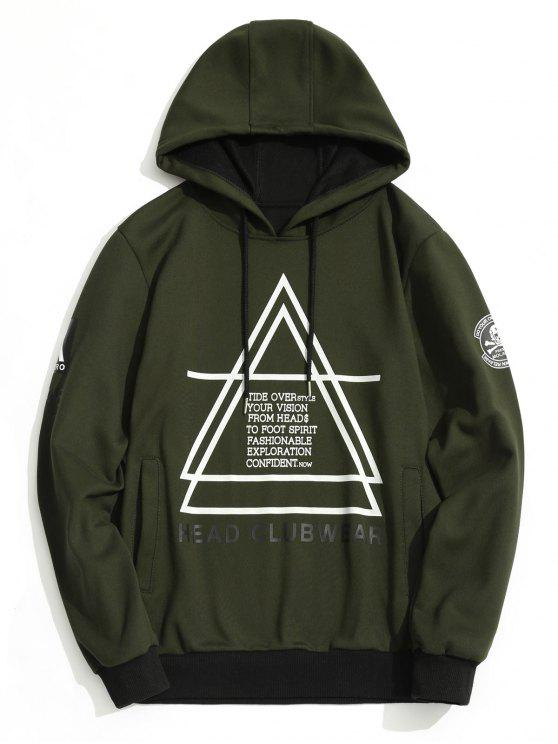buy Flocking Graphic Hoodie Men Clothes - ARMY GREEN L