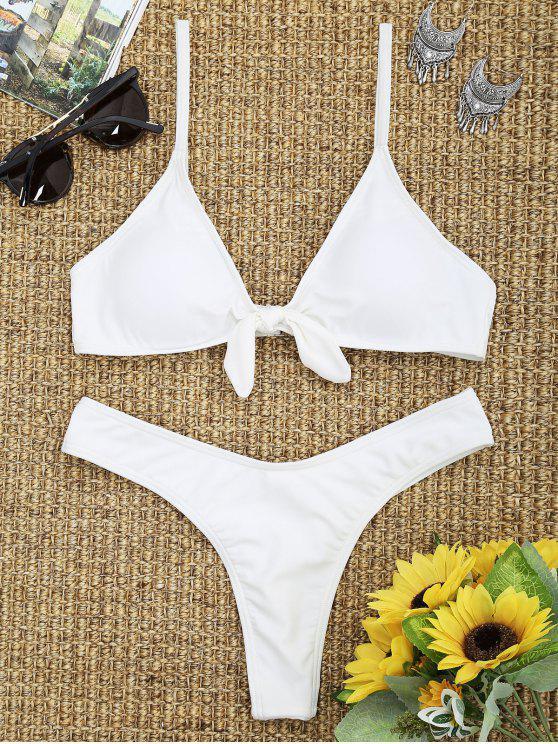 Bikini con perizoma Knot - Bianco M