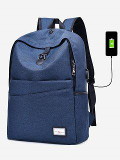 Multi Function USB Charging Port Backpack - Blue