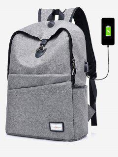 Multi Function USB Charging Port Backpack - Gray