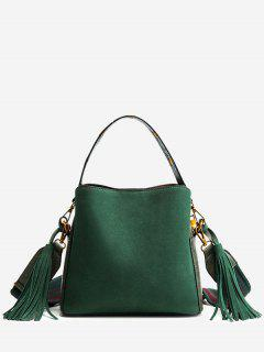 Tassels Multi Function PU Leather Handbag - Green