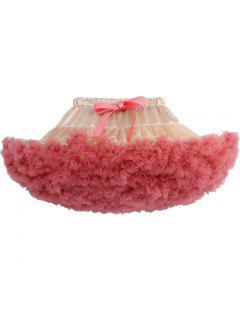 Zaful Femmes Luxueux Doux Mousseline De Soie Jupon Tulle Tutu Jupes - Pastèque Rouge