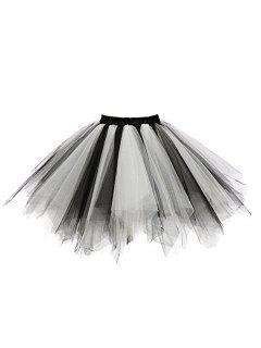 Zaful Candy Couleur Patchwork Tulle Tutu Jupe Femmes Petticoat - 03#