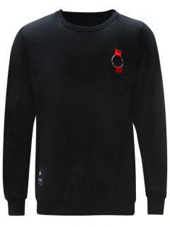 Ring Crew Neck Sweatshirt - Black L