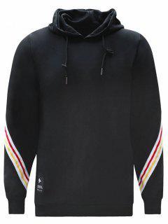 Colorful Stripe Hoodie - Black M