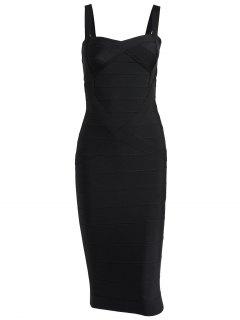 Sweetheart Neck Bandage Dress - Black L