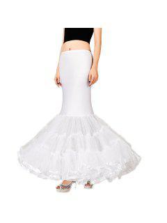 Zaful Womens 3 Layers Floor Length Wedding Dress Petticoat - White