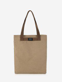 Canvas Eco Shoulder Bag - Khaki