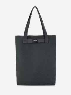 Canvas Eco Shoulder Bag - Gray