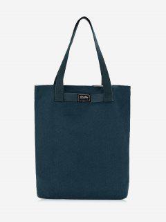 Canvas Eco Shoulder Bag - Blue