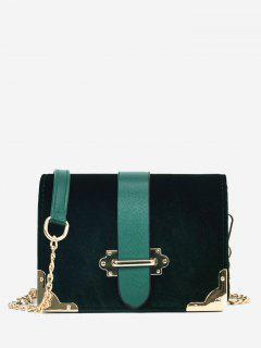 Chain Metallic Crossbody Bag - Green