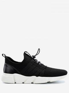 Lightweight Mesh Sneakers With Cord-lock Closure - Black 40