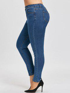 Plus Size Narrow Leg Classic Jeans - Denim Blue 4xl