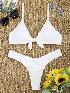 Ensemble De Bikini à Taille Haute Avec Noeud Et Nœud - Blanc S