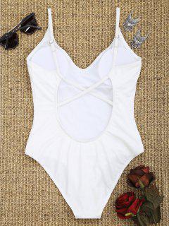 Criss-Cross High Cut Badeanzug - Weiß S