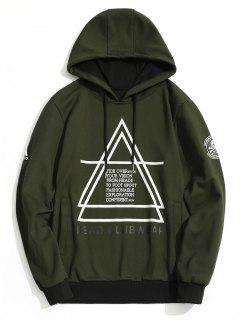 Flocking Graphic Mens Hoodie - Army Green L