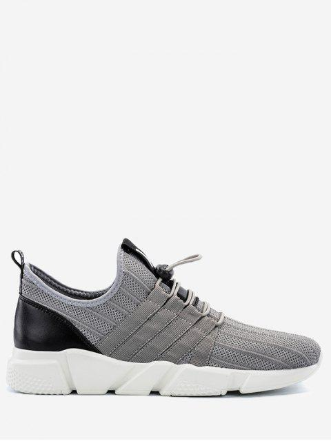 fancy Lightweight Mesh Sneakers with Cord-lock Closure - GRAY 40 Mobile