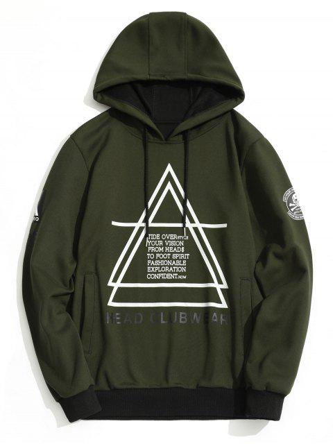 buy Flocking Graphic Mens Hoodie - ARMY GREEN L Mobile