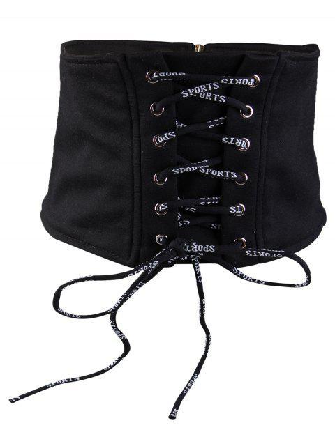 Cinturón de cintura alta embellecido vintage con flecos - Negro  Mobile