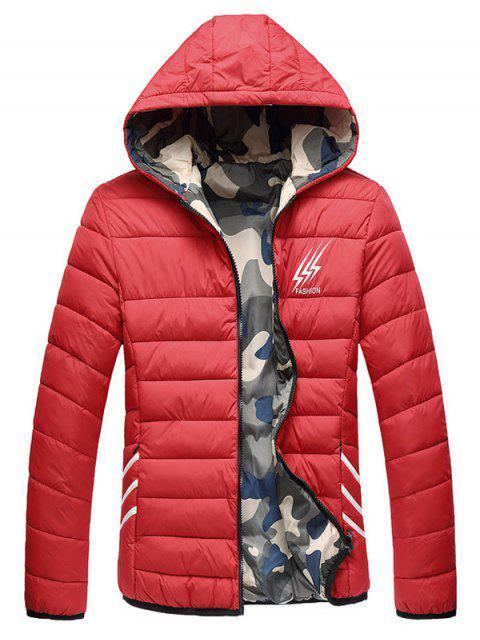 Veste Rembourrée Imprimée Camouflage Style Réversible - Rouge 2XL Mobile